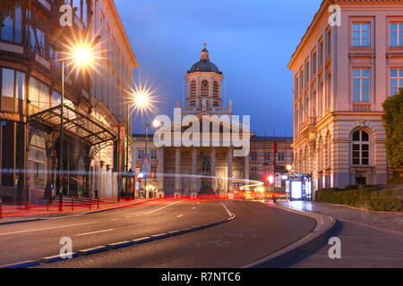 Brussels at night, Brussels, Belgium - Stock Photo