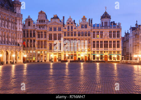 Grand Place Square at night in Brussels, Belgium