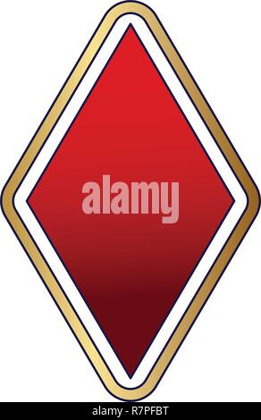 Diamond card symbol - Stock Photo