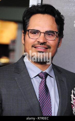 Westwood, California, USA. 10th Dec 2018. WESTWOOD, CA - DECEMBER 10: Actor Michael Pena attends the World Premiere of Warner Bros. Pictures' 'The Mule' on December 10, 2018 at Regency Village Theatre in Westwood, California. Photo by Barry King/Alamy Live News - Stock Photo