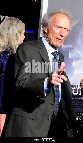 Westwood, California, USA. 10th Dec 2018. Director/producer/actor Clint Eastwood attends the World Premiere of Warner Bros. Pictures' 'The Mule' on December 10, 2018 at Regency Village Theatre in Westwood, California. Photo by Barry King/Alamy Live News - Stock Photo