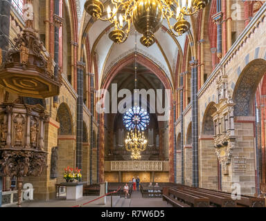 Interior of Bremen Cathedral (St Petri Dom), Bremen, Germany - Stock Photo
