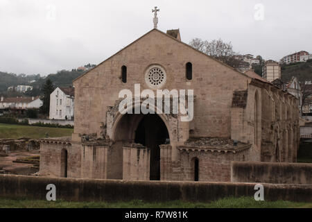 Old Monastery in the city of Guimarães, Portugal - Mosteiro Santa Clara a Velha - Stock Photo