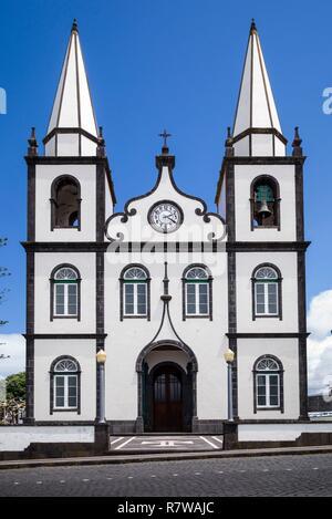 Portugal, Azores, Pico Island, Madalena, Igreja de Santa Madalena church - Stock Photo