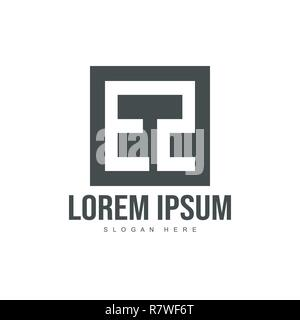 Initial letter logo template. Minimalist letter logo template design - Stock Photo