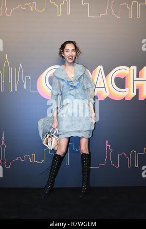 December 11, 2018 - Shanghai, Shanghai, China - Shanghai, CHINA-Japanese Model Mizuhara Kiko shows at Coach Autumn Show 2019 in Shanghai, China. (Credit Image: © SIPA Asia via ZUMA Wire) - Stock Photo
