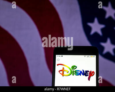 The Walt Disney Company Mass Media Company Logo Seen Displayed On