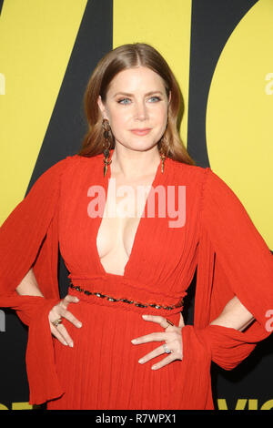 Beverly Hills, California, USA. 11th Dec, 2018. Amy Adams at the Vice World Premiere at the Academy of Motion Picture Arts & Sciences in Beverly Hills, California on December 11, 2018. Credit: Faye Sadou/Media Punch/Alamy Live News - Stock Photo