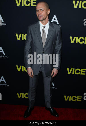 Beverly Hills, California, USA. 11th Dec 2018. Actor Sam Rockwell arrives at the World Premiere Of Annapurna Pictures, Gary Sanchez Productions And Plan B Entertainment's 'Vice' held at the Samuel Goldwyn Theater at The Academy of Motion Picture Arts and Sciences on December 11, 2018 in Beverly Hills, Los Angeles, California, United States. (Photo by Xavier Collin/Image Press Agency) Credit: Image Press Agency/Alamy Live News - Stock Photo