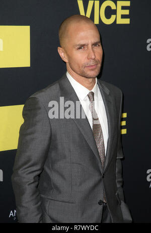 Beverly Hills, Ca. 11th Dec, 2018. Sam Rockwell, at the Vice World Premiere at the Academy of Motion Picture Arts & Sciences in Beverly Hills, California on December 11, 2018. Credit: Faye Sadou/Media Punch/Alamy Live News - Stock Photo
