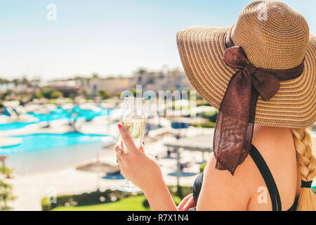 celebrate while traveling. Summer photo. Selective focus Holidays - Stock Photo