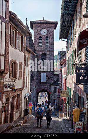 Rue de la Citadelle, St. Jean Pied de Port, France - Stock Photo