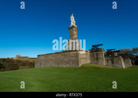 Lord Collingwood Monument, Tynemouth, UK - Stock Photo