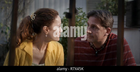 In 'Welcome to Marwen,' directed by Robert Zemeckis, Leslie Mann plays Nicol, the new neighbor of artist Mark Hogancamp, played by Steve Carell Photo Credit: Universal Pictures and Storyteller Distribution Co., LLC. / The Hollywood Archive - Stock Photo