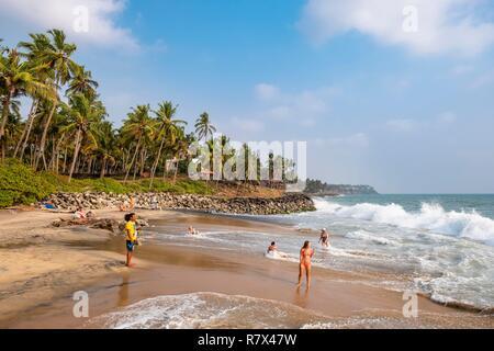 India, state of Kerala, Varkala, Odayam Beach - Stock Photo
