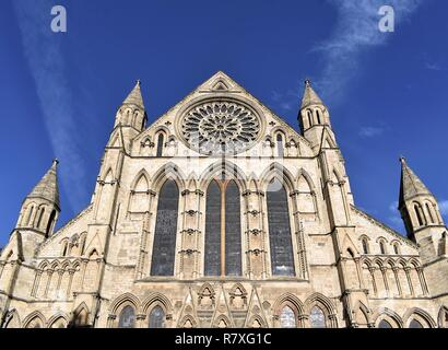South Transept and Rose Window - Stock Photo