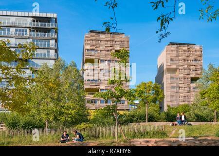 France, Paris, Martin Luther King Park, apartment buildings