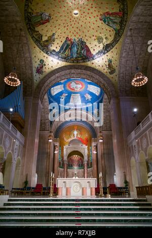 United States, District of Columbia, Washington, Basilica of the National Shrine of the Immaculate Conception, interior - Stock Photo