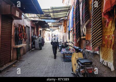 05-03-15, Marrakech, Morocco. Street scene in the souk, in the medina. Photo: © Simon Grosset - Stock Photo