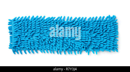 Top view quick change dust mop head isolated on white - Stock Photo
