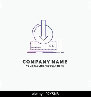 Blue Logo design for Addition, content, dlc, download, game