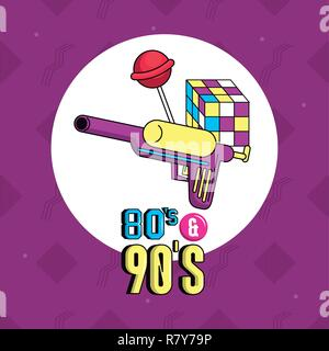 eighties and nineties style - Stock Photo