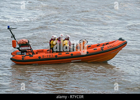 The Atlantic 75 class lifeboat Paul Alexander at sea during the annual RNLI open day in Weston-super-Mare, UK on 19 August 2018. - Stock Photo