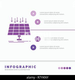 Solar, Panel, Energy, technology, smart city Infographics Template for Website and Presentation. GLyph Purple icon infographic style vector illustrati - Stock Photo