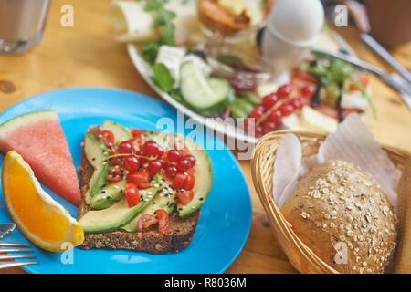 A vegetarian breakfast plate - Stock Photo