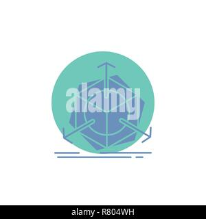 3d, change, correction, modification, object Glyph Icon. - Stock Photo