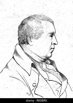WILLIAM COBBETT (1763-1835) English MP, farmer, political reformer and author of Rural Rides (1830) - Stock Photo