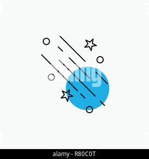 star, shooting star, falling, space, stars Line Icon - Stock Photo