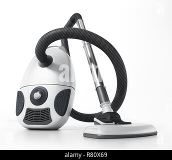 Vacuum cleaner isolated on white background. 3D illustration. - Stock Photo