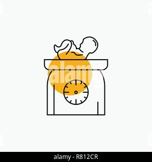 weight, baby, New born, scales, kid Line Icon - Stock Photo
