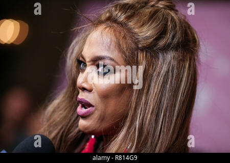 HOLLYWOOD, LOS ANGELES, CA, USA - NOVEMBER 27: Tyra Banks at the World Premiere Of Freeform's 'Life-Size 2' held at The Hollywood Roosevelt on November 27, 2018 in Hollywood, Los Angeles, California, United States. (Photo by Xavier Collin/Image Press Agency) - Stock Photo