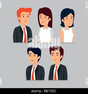 set professional businesspeople teamwork strategy - Stock Photo