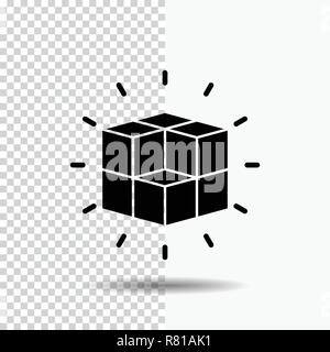 box, labyrinth, puzzle, solution, cube Glyph Icon on Transparent Background. Black Icon - Stock Photo