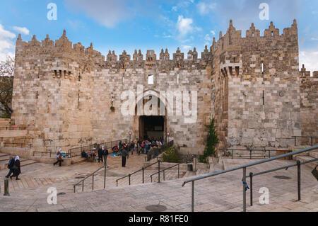 Damascus Gate, Jerusalem, Israel - Stock Photo