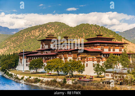 Punakha Dzong Monastery, Bhutan - Stock Photo