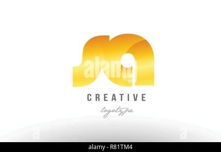 Design of alphabet letter logo combination sa s a with gold golden metal gradient color for a company or business - Stock Photo