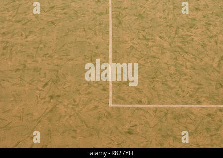 A Sand Covered All Weather Football Pitch - Stock Photo