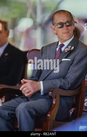 Prince Philip, Duke of Edinburgh. Barbados, Circa 1989 - Stock Photo