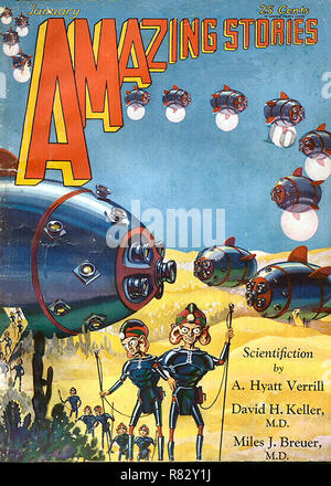 Amazing Stories January 1930 - Stock Photo