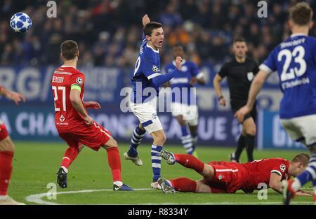 firo Football, 11.12.2018 Champions League FC Schalke 04 - Lokomotiv Moscow duels Benjamin Goller   usage worldwide - Stock Photo