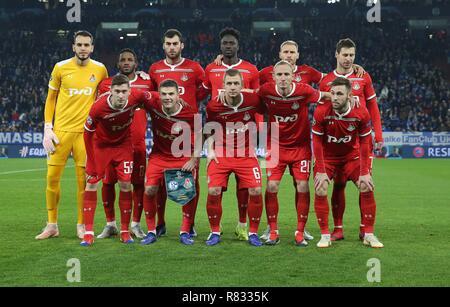 firo Football, 11.12.2018 Champions League FC Schalke 04 - Lokomotiv Moscow 1: 0 Teamfoto Moscow | usage worldwide - Stock Photo
