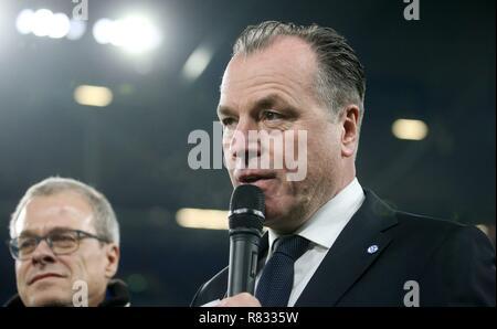 firo Football, 11.12.2018 Champions League FC Schalke 04 - Lokomotiv Moscow 1: 0 Clemens Tonnies, Toennies Portrait | - Stock Photo