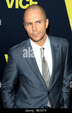 Sam Rockwell attending the 'Vice' World premiere at the Samuel Goldwyn Theater on December 11, 2018 in Beverly Hills, California. - Stock Photo