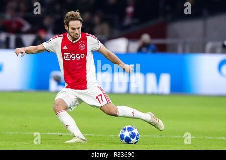 Amsterdam, Netherlands. 12th December, 2018. AMSTERDAM - Ajax - Bayern Munchen , Football , Season 2018/2019 , Champions League , Johan Cruijff ArenA , 09-12-2018 , Ajax player Daley Blind Credit: Pro Shots/Alamy Live News - Stock Photo