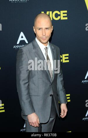 Sam Rockwell at arrivals for VICE Premiere, Samuel Goldwyn Theater at AMPAS, Los Angeles, CA December 11, 2018. Photo By: Priscilla Grant/Everett Collection - Stock Photo