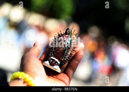 San Salvador, El Salvador. 12th Dec, 2018. Hundreds of Salvadoran catholics participate in the celebrations of the Day of the Virgin of Guadalupe, in San Salvador, El Salvador, 12 December 2018. Credit: Rodrigo Sura/EFE/Alamy Live News - Stock Photo